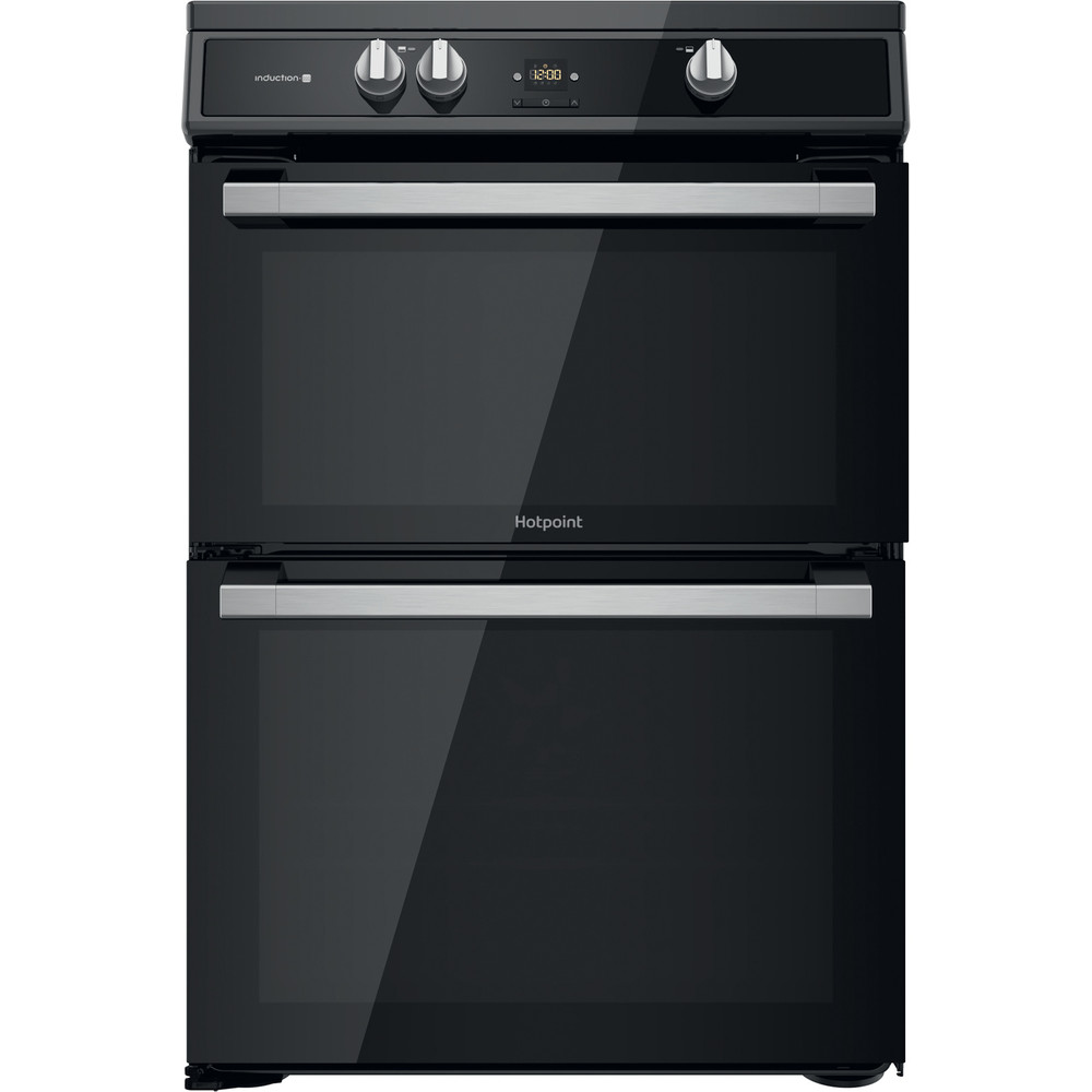 Hotpoint Double Cooker HDT67I9HM2C/UK Black A Frontal