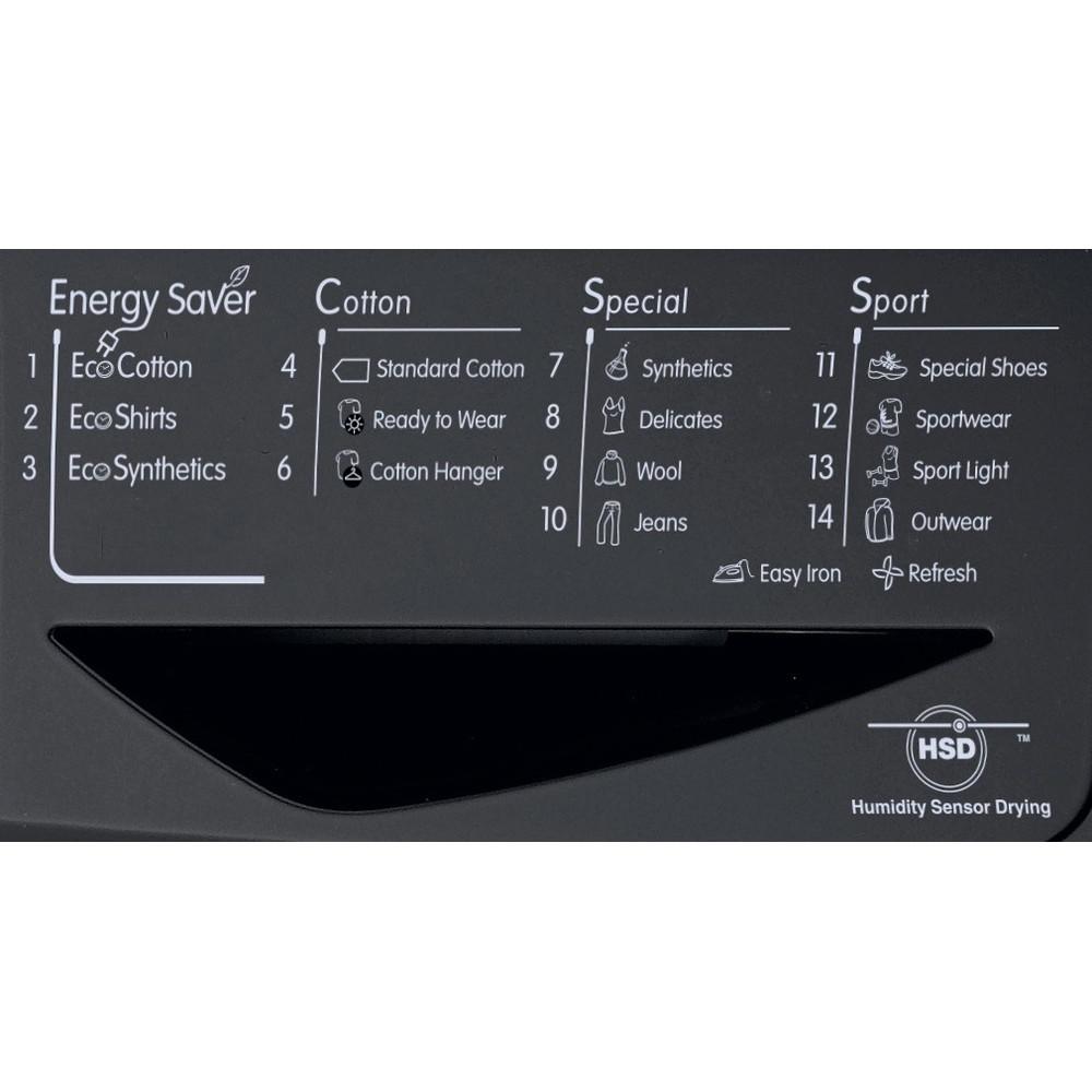 Indesit Dryer IDCE 8450 BK H (UK) Black Program