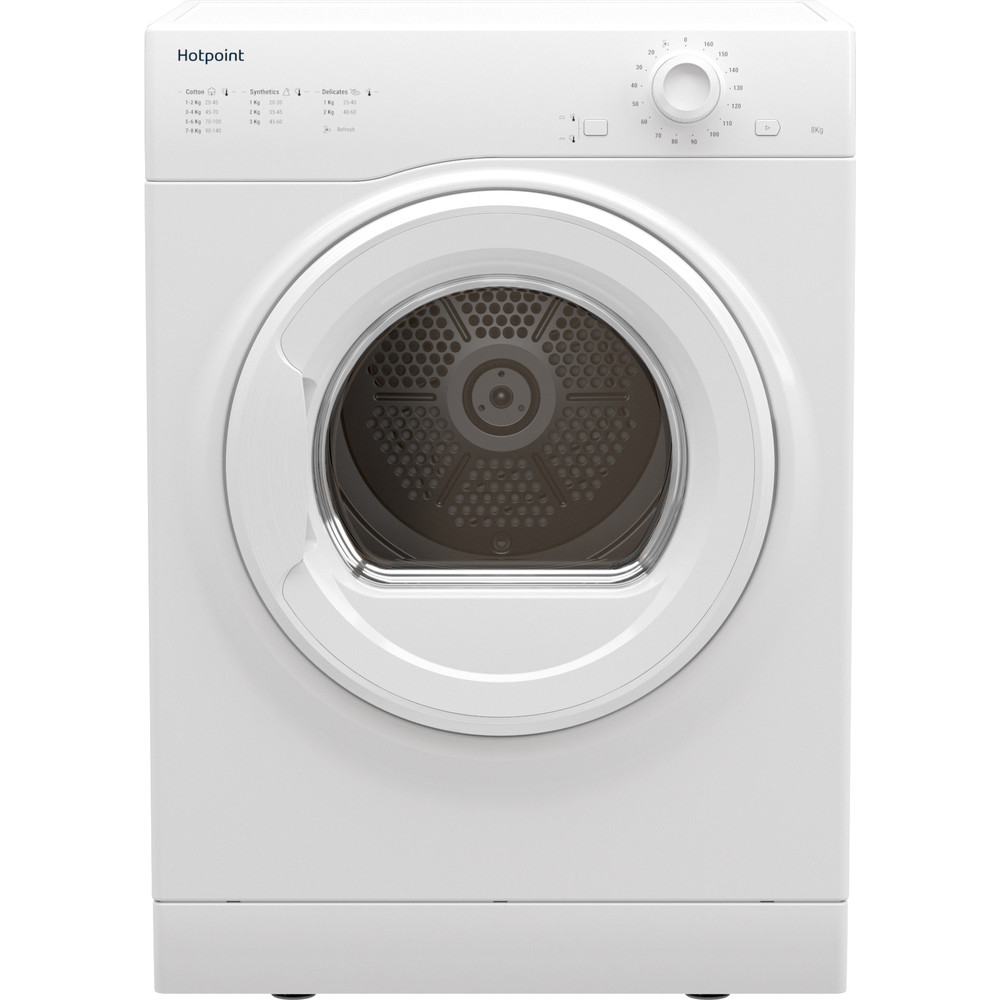 Hotpoint Dryer H1 D80W UK White Frontal