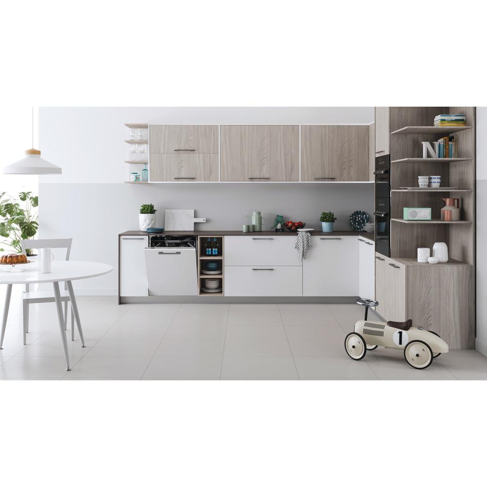 Indesit Lave-vaisselle Encastrable DIC 3C24 AC S Tout intégrable E Lifestyle frontal