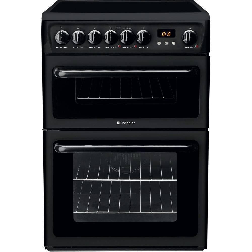 Hotpoint Double Cooker HAE60K S Black B Vitroceramic Frontal