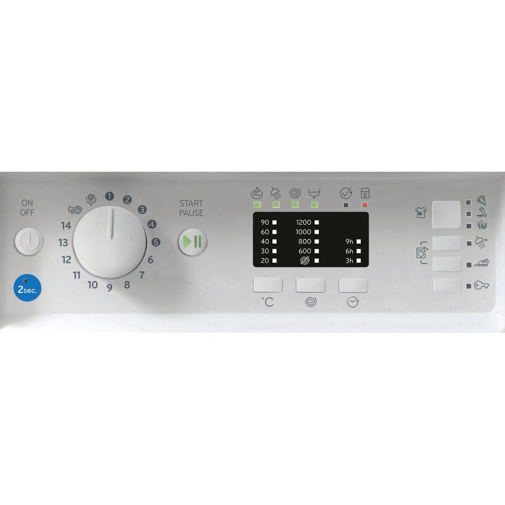 Indesit Washing machine Built-in BI WMIL 71252 UK N White Front loader E Control panel