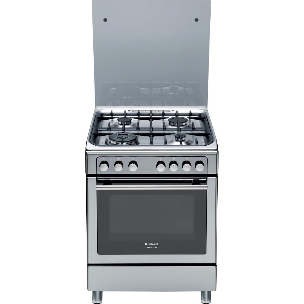 Hotpoint_Ariston Cucina con forno a doppia cavità CX65S7D2 IT (X)/HA H Inox GAS Frontal