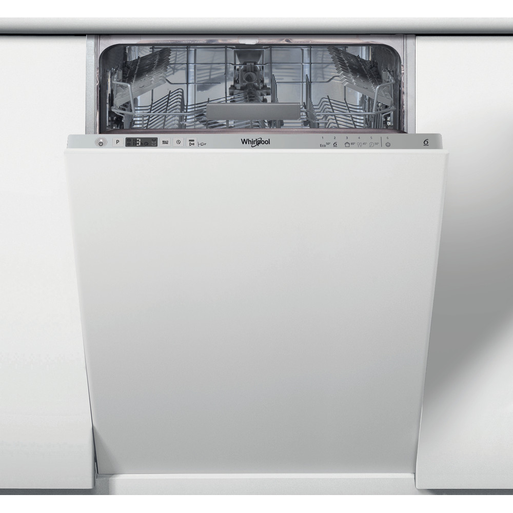 Посудомийна машина Whirlpool інтегрована: сріблястий колір, вузька - WSIC 3M17