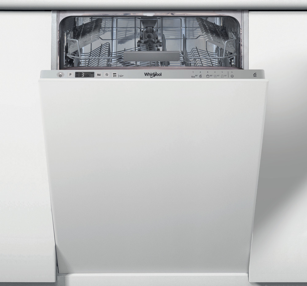 Whirlpool Astianpesukone Kalusteisiin sijoitettava WSIC 3M17 Full-integrated A+ Frontal