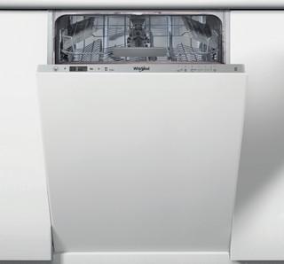 Whirlpool vgradni pomivalni stroj: Srebrna barva, Ozek - WSIC 3M17