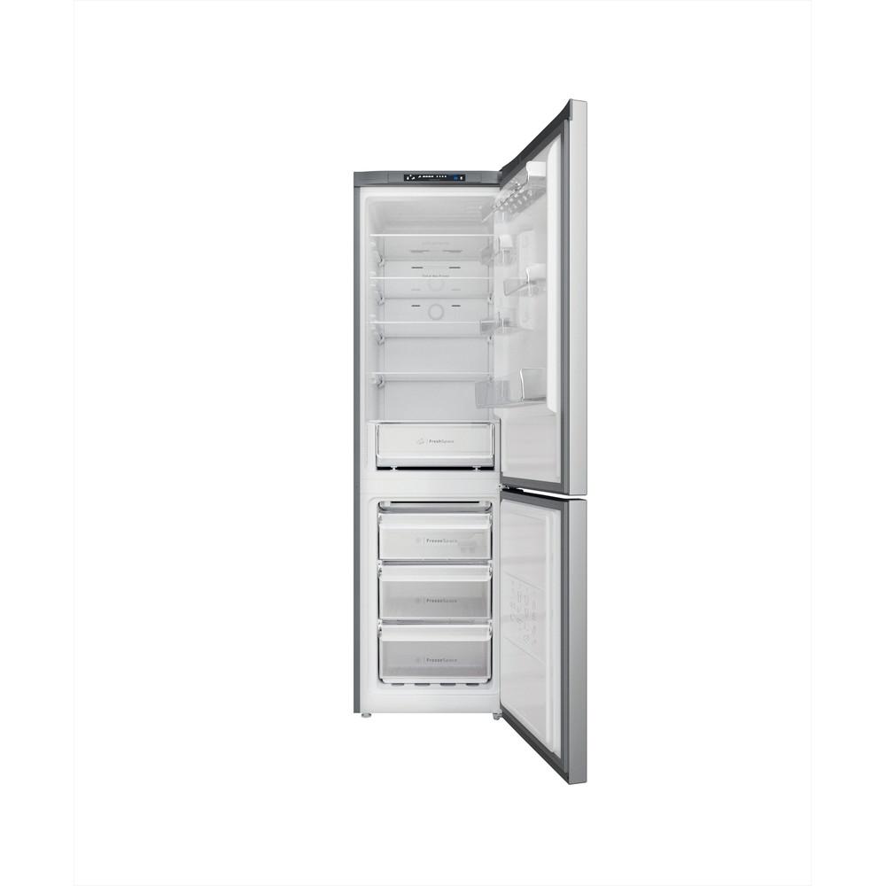 Indesit Combinazione Frigorifero/Congelatore A libera installazione INFC9 TA23X Argento 2 porte Frontal open
