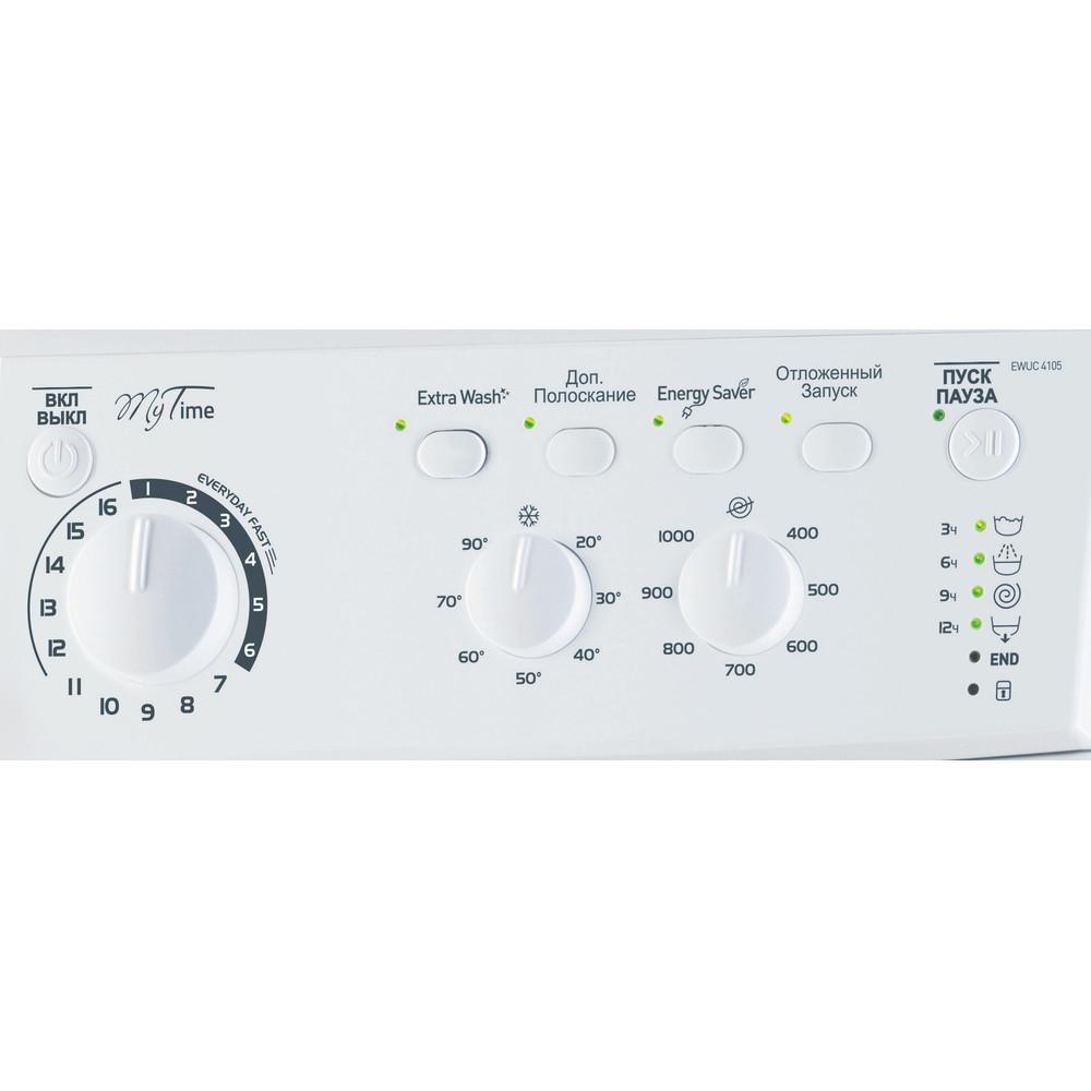 Indesit Стиральная машина Отдельностоящий EWUC 4105 CIS Белый Фронтальная загрузка A Control_Panel