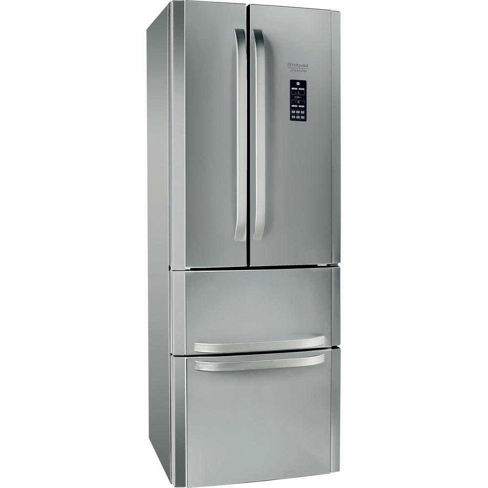 Hotpoint_Ariston Комбиниран хладилник с фризер Свободностоящ E4DG1 X O3 Инокс 2 врати Perspective
