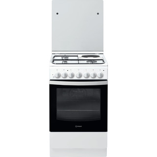 Indesit Готварска печка IS5M5PCW/E Бял Смесени Frontal