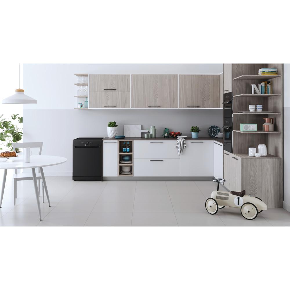 Indesit Dishwasher Free-standing DFE 1B19 B UK Free-standing F Lifestyle frontal