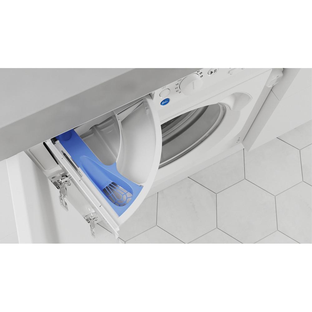 Indesit Máquina de lavar e secar roupa Encastre BI WDIL 861284 EU Branco Carga Frontal Drawer