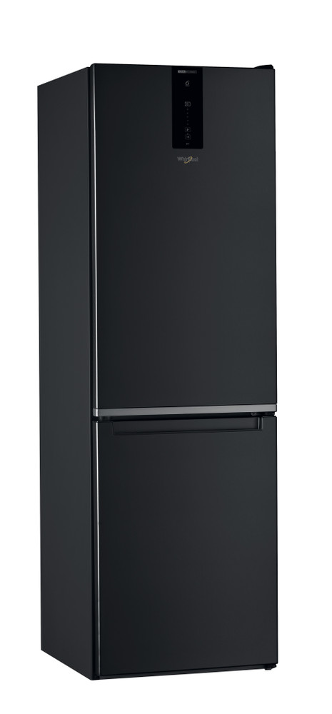 Whirlpool Fridge/freezer combination Samostojeća W7 821O K Crna 2 vrata Perspective