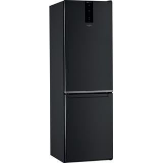 Whirlpool Kombinētais ledusskapis/saldētava Brīvi stāvošs W7 821O K Melna 2 doors Perspective
