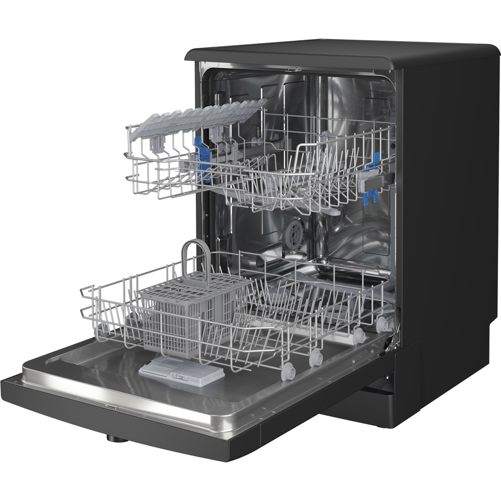 Indesit Dishwasher Free-standing DFE 1B19 B UK Free-standing F Perspective open