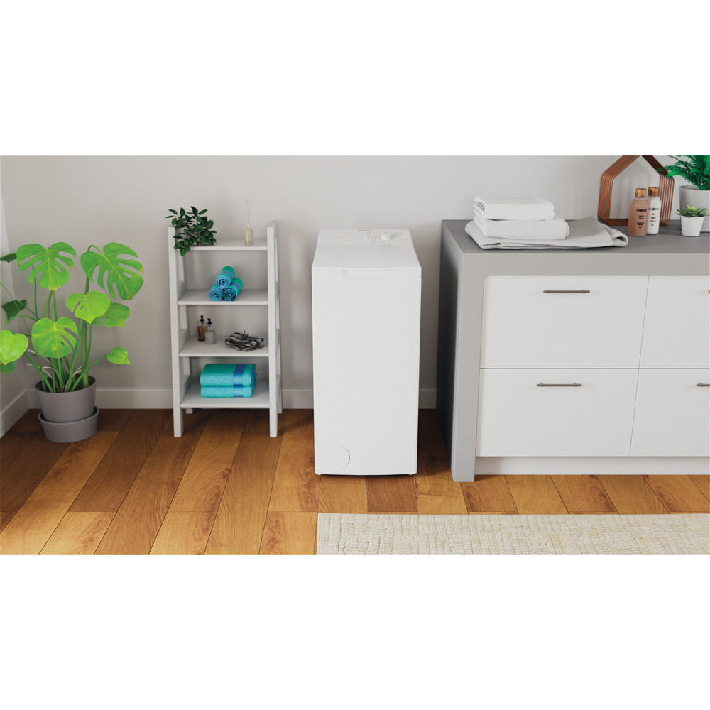 Indesit Lave-linge Pose-libre BTW L50300 FR/N Blanc Lave-linge top D Lifestyle frontal