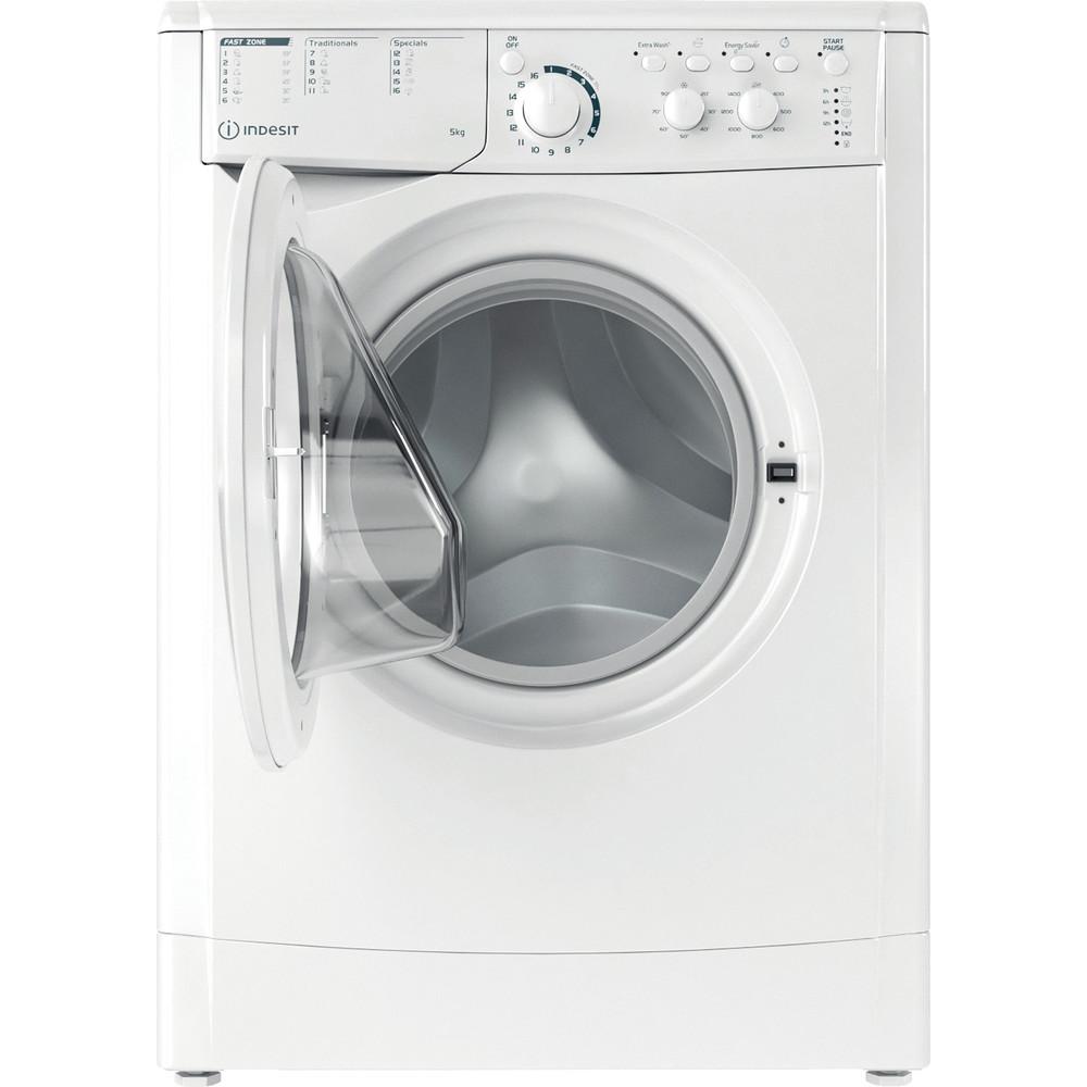 Indesit Wasmachine Vrijstaand EWC 51451 W EU N Wit Voorlader F Frontal open