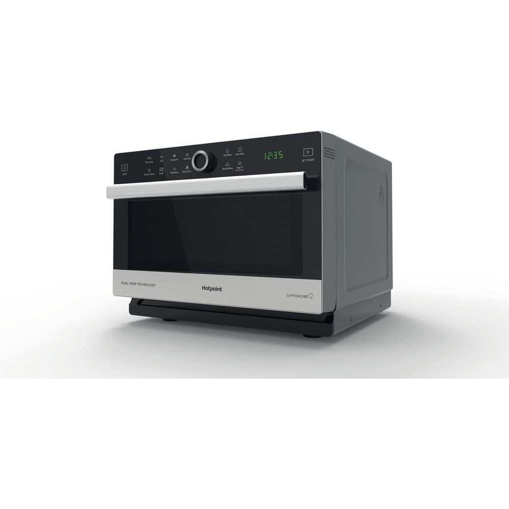 Hotpoint Microwave Free-standing MWH 338 SX Inox Electronic 33 MW-Combi 900 Perspective