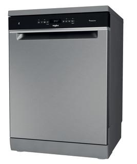 Whirlpool dishwasher: inox color, full size - WFO 3O41 PL X UK