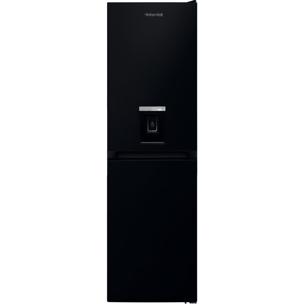 Hotpoint Fridge Freezer Free-standing HBNF 55181 B AQUA UK 1 Black 2 doors Frontal