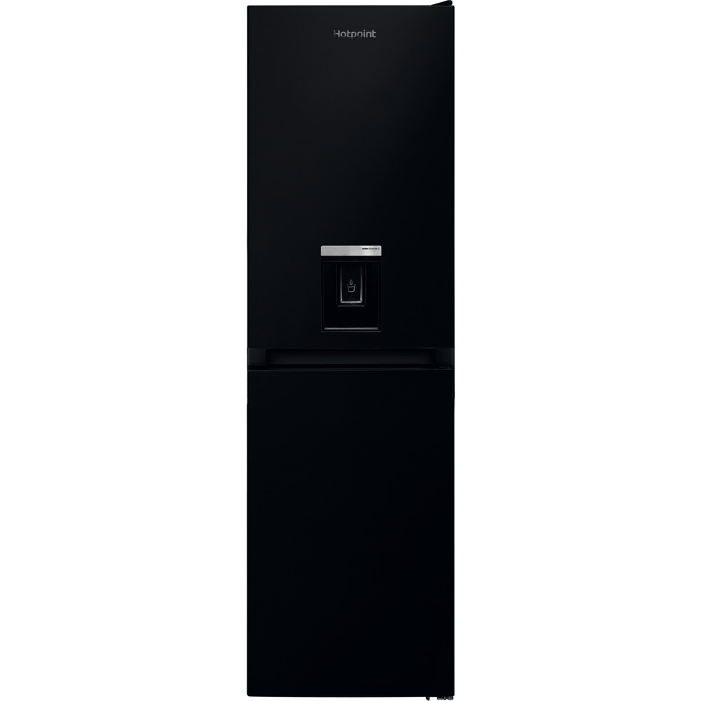 Hotpoint Fridge-Freezer Combination Free-standing HBNF 55181 B AQUA UK 1 Black 2 doors Frontal