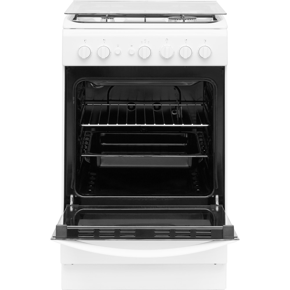 Indesit Cocina IS5G1PMW/E Blanco Gas Frontal open