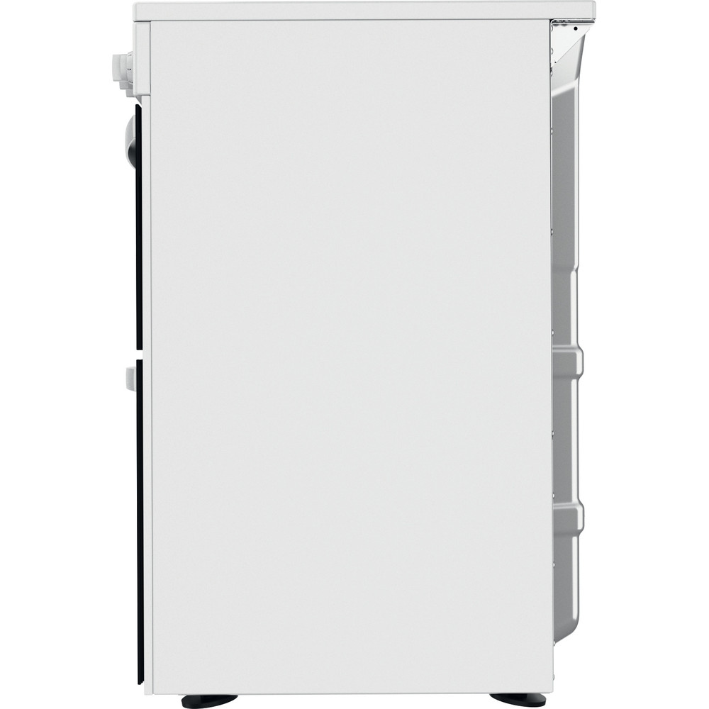 Indesit Double Cooker ID67V9KMW/UK White A Back / Lateral