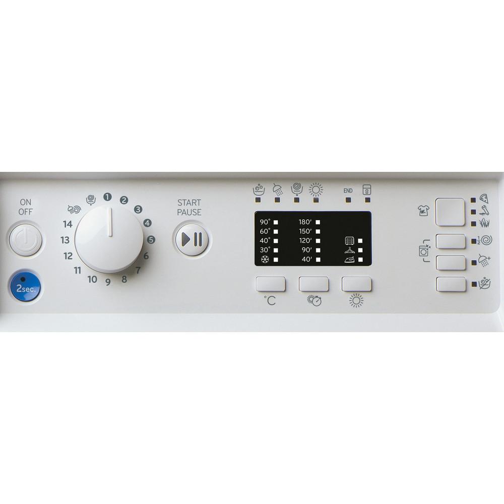 Indesit Lavasciugabiancheria Da incasso BI WDIL 861284 EU Bianco Carica frontale Control panel
