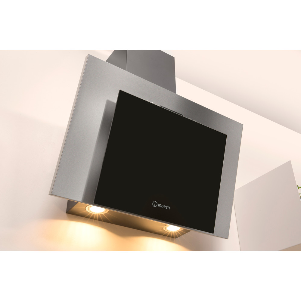 Indesit HOOD Built-in IHVP 6.4 AL K Black Wall-mounted Mechanical Lifestyle perspective