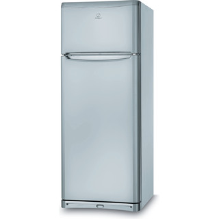 Indesit Combiné réfrigérateur congélateur Pose-libre TEAAN 5 S 1 Argent 2 portes Perspective