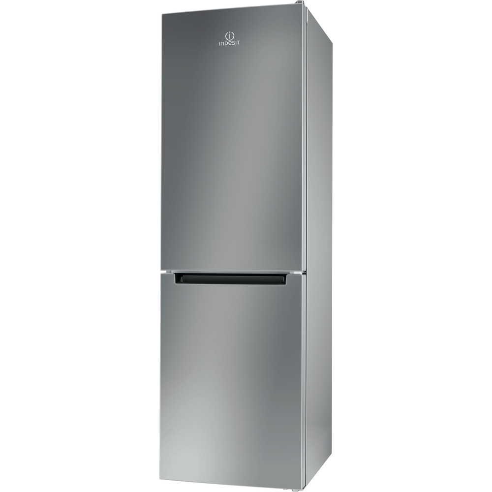 Indesit Kombinerat kylskåp/frys Fristående LI8 S1E S Silver 2 doors Perspective