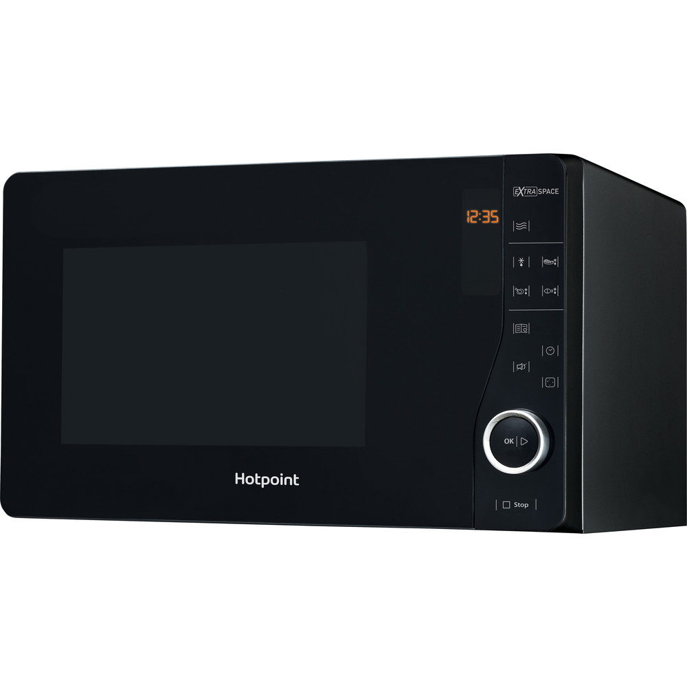 Hotpoint Microwave Free-standing MWH 2621 MB Black Electronic 25 MW only 800 Perspective