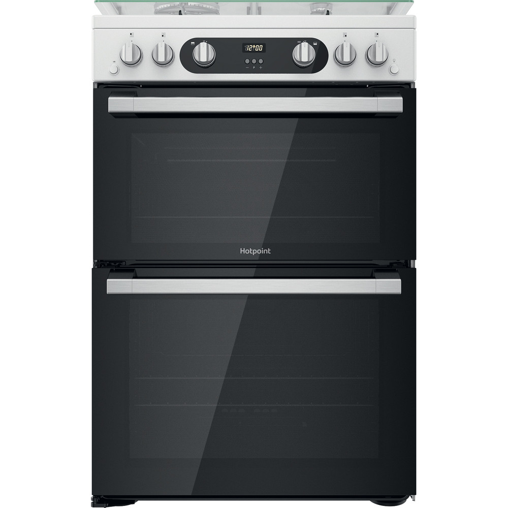 Hotpoint Double Cooker HD67G02CCW/UK White A+ Frontal