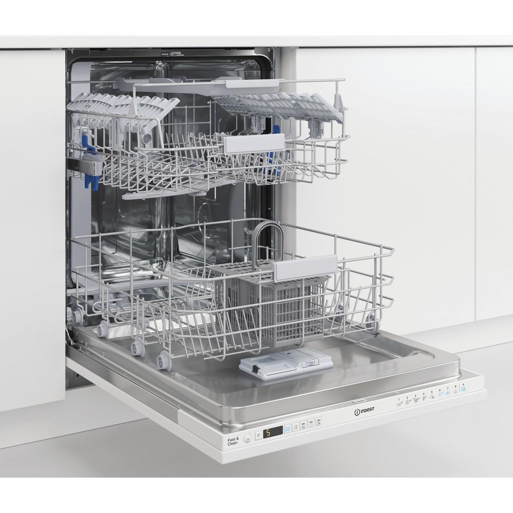 Indesit Umývačka riadu Vstavané DIO 3C24 AC E Full-integrated E Lifestyle perspective open