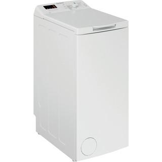Indesit Lave-linge Pose-libre BTW S72200 BX/N Blanc Par le dessus E Perspective