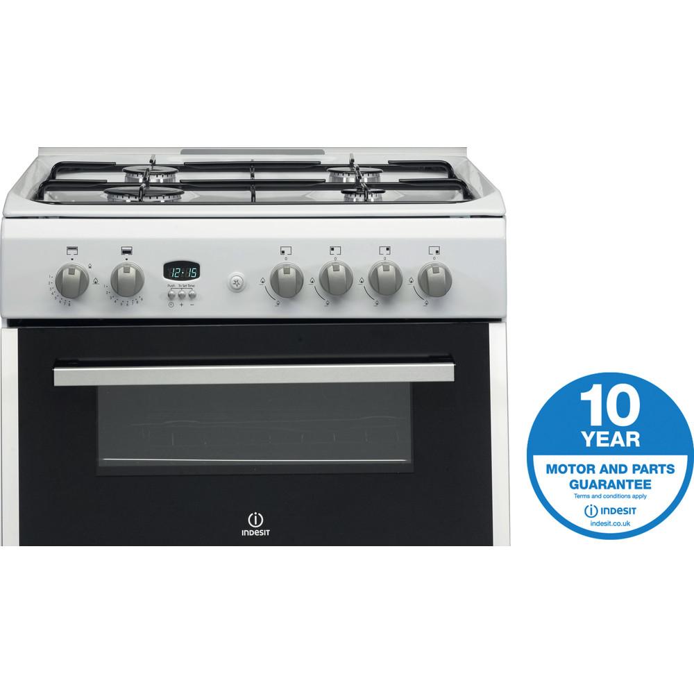 Indesit Double Cooker DD60G2CG(W)/UK White A+ Enamelled Sheetmetal Award