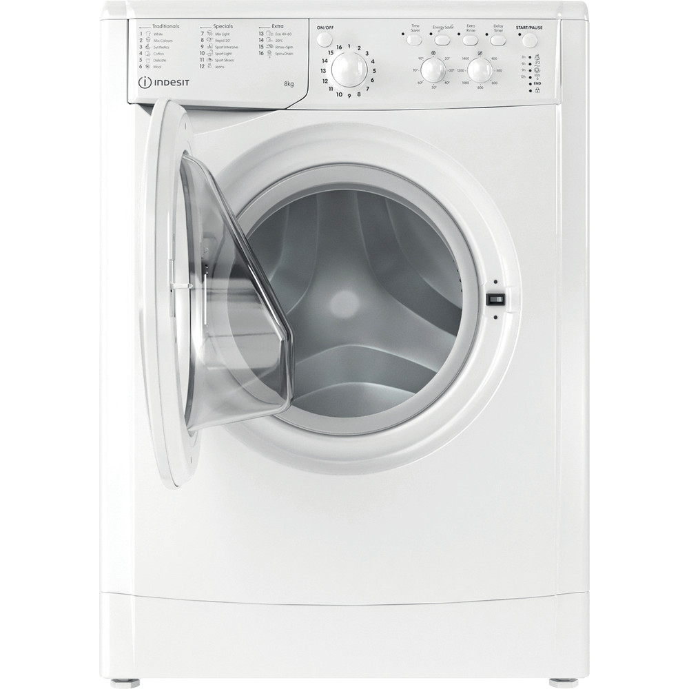 Indesit Washing machine Free-standing IWC 81483 W UK N White Front loader D Frontal open