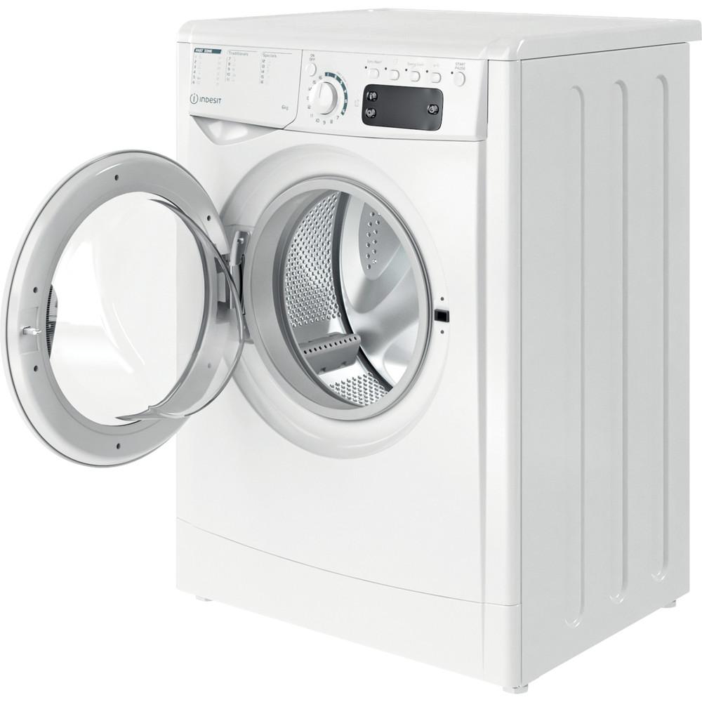 Indesit Waschmaschine Freistehend EWE 61251E W EU N Weiß Frontlader F Perspective open