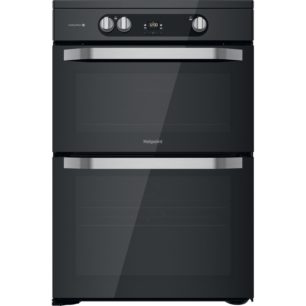 Hotpoint Double Cooker HDM67I9H2CB/U Black A Frontal