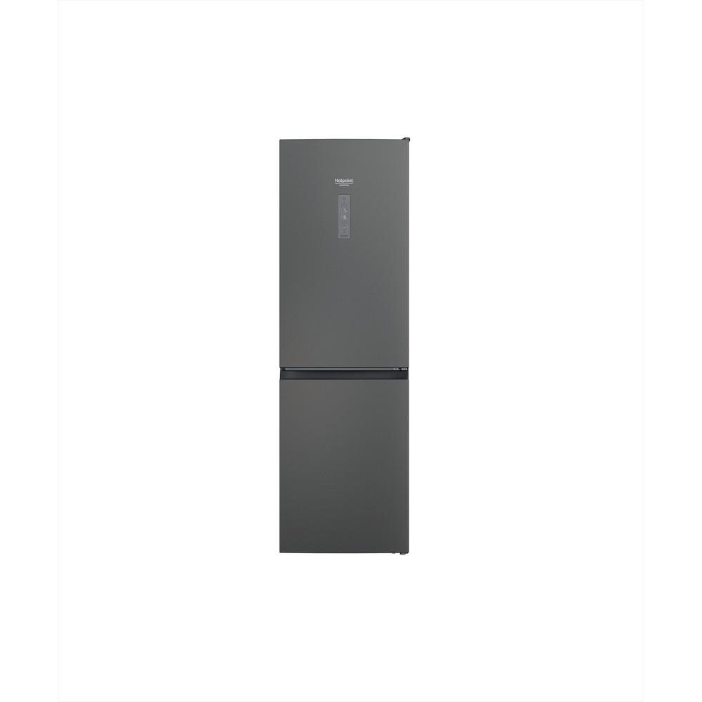 Hotpoint_Ariston Combinados Livre Instalação HAFC8 TT33SK O3 Preto prateado 2 doors Frontal