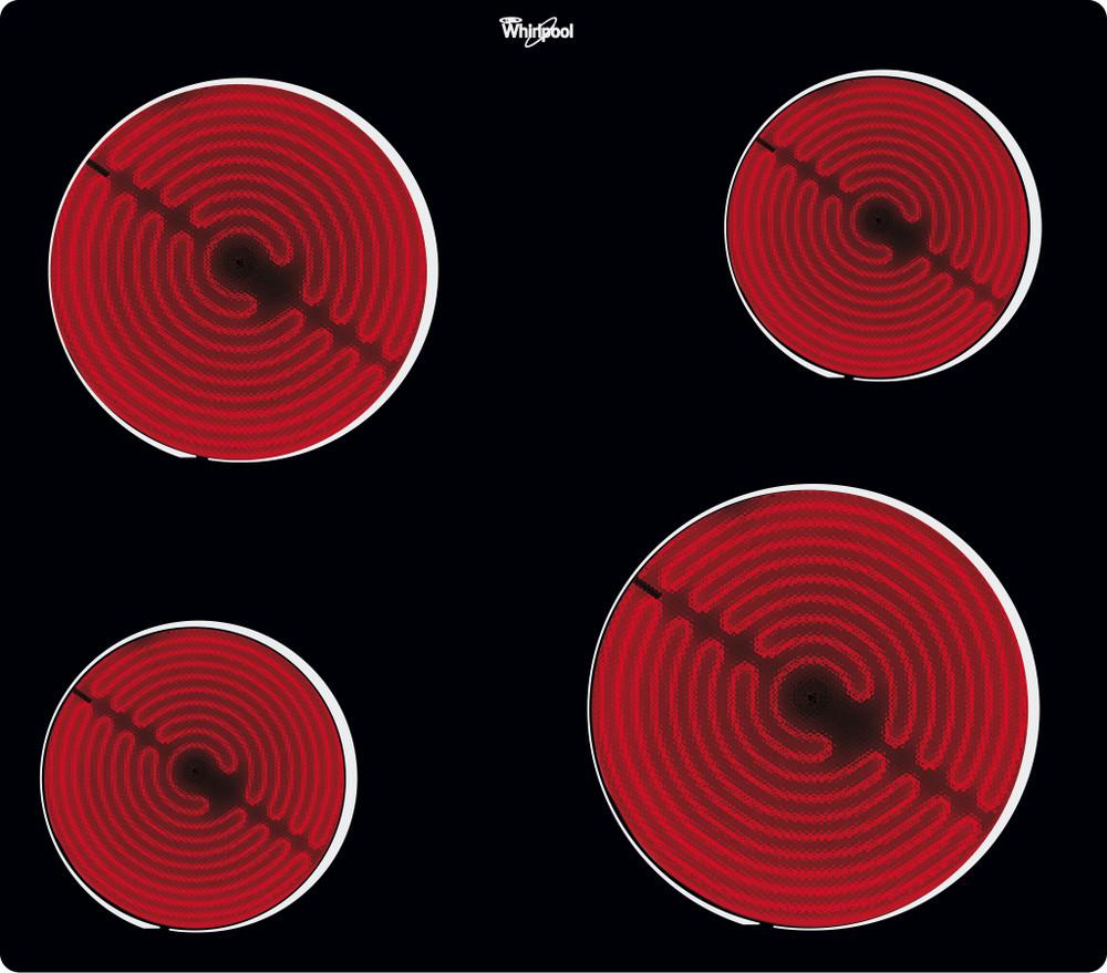 Whirlpool Hob AKT 109 NE Black Radiant vitroceramic Heating element
