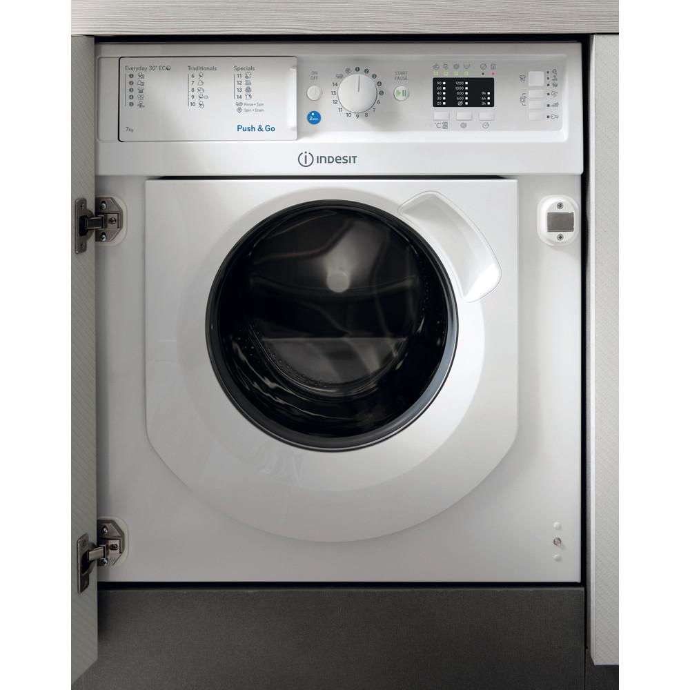 Indesit Стиральная машина Встраиваемый BI WMIL 71252 EU Белый Фронтальная загрузка A Frontal