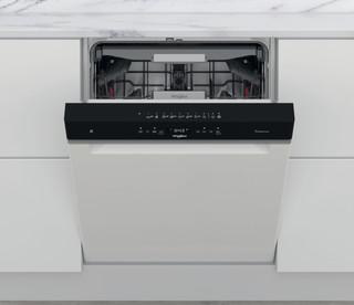 Whirlpool-opvaskemaskine: hvid farve, fuld størrelse - WUO 3T333 PF