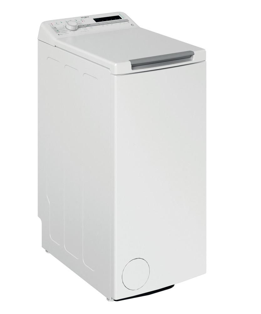 Whirlpool Maşină de spălat rufe De sine statator TDLR 6230SS EU/N Alb Încărcare Verticală D Perspective
