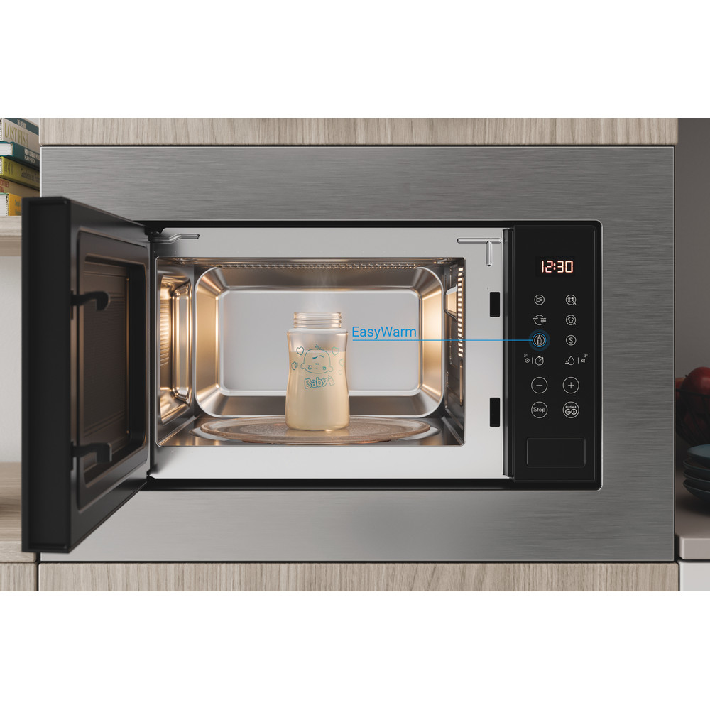 Indesit Microwave Built-in MWI 120 GX UK Stainless steel Electronic 20 MW+Grill function 800 Lifestyle frontal open