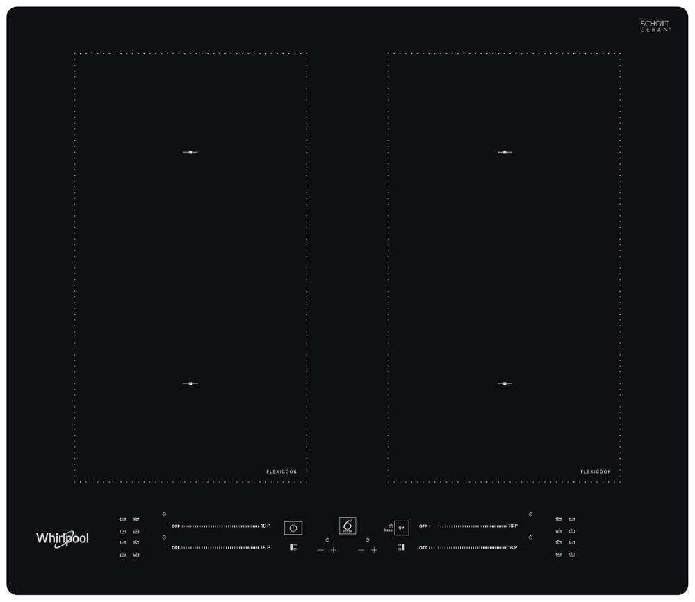 Whirlpool Kogeplade WL S1360 NE Sort Induction vitroceramic Frontal