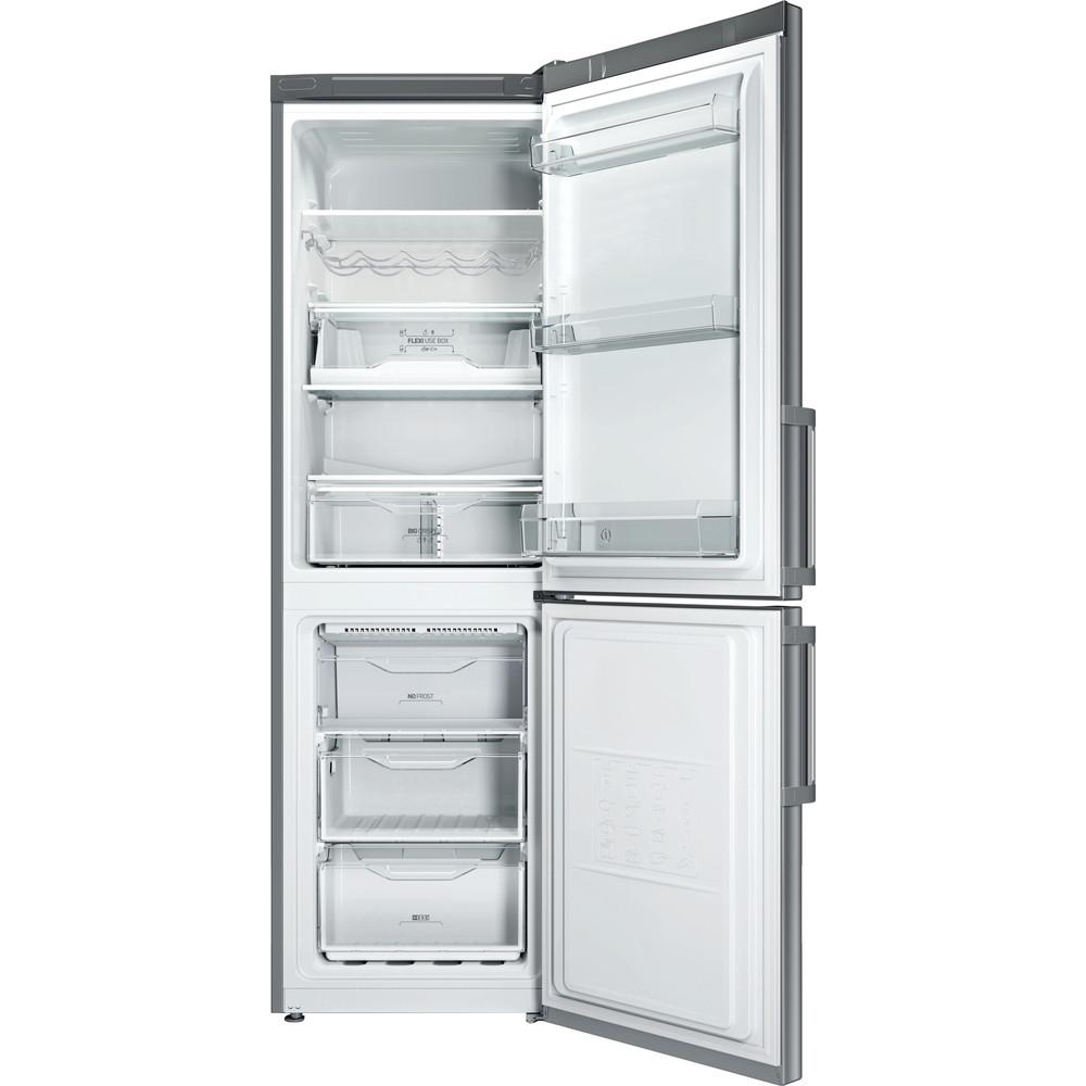 Indesit Frigorifero combinato Samostojeći LI8 FF2O X H Inox 2 doors Frontal open