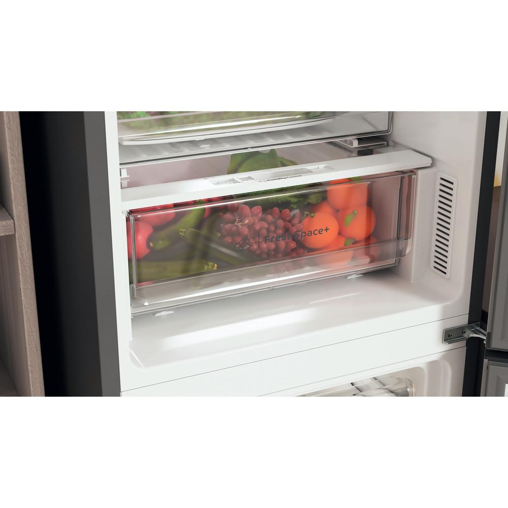 Indesit Combiné réfrigérateur congélateur Pose-libre INFC9 TO32X Inox 2 portes Lifestyle detail
