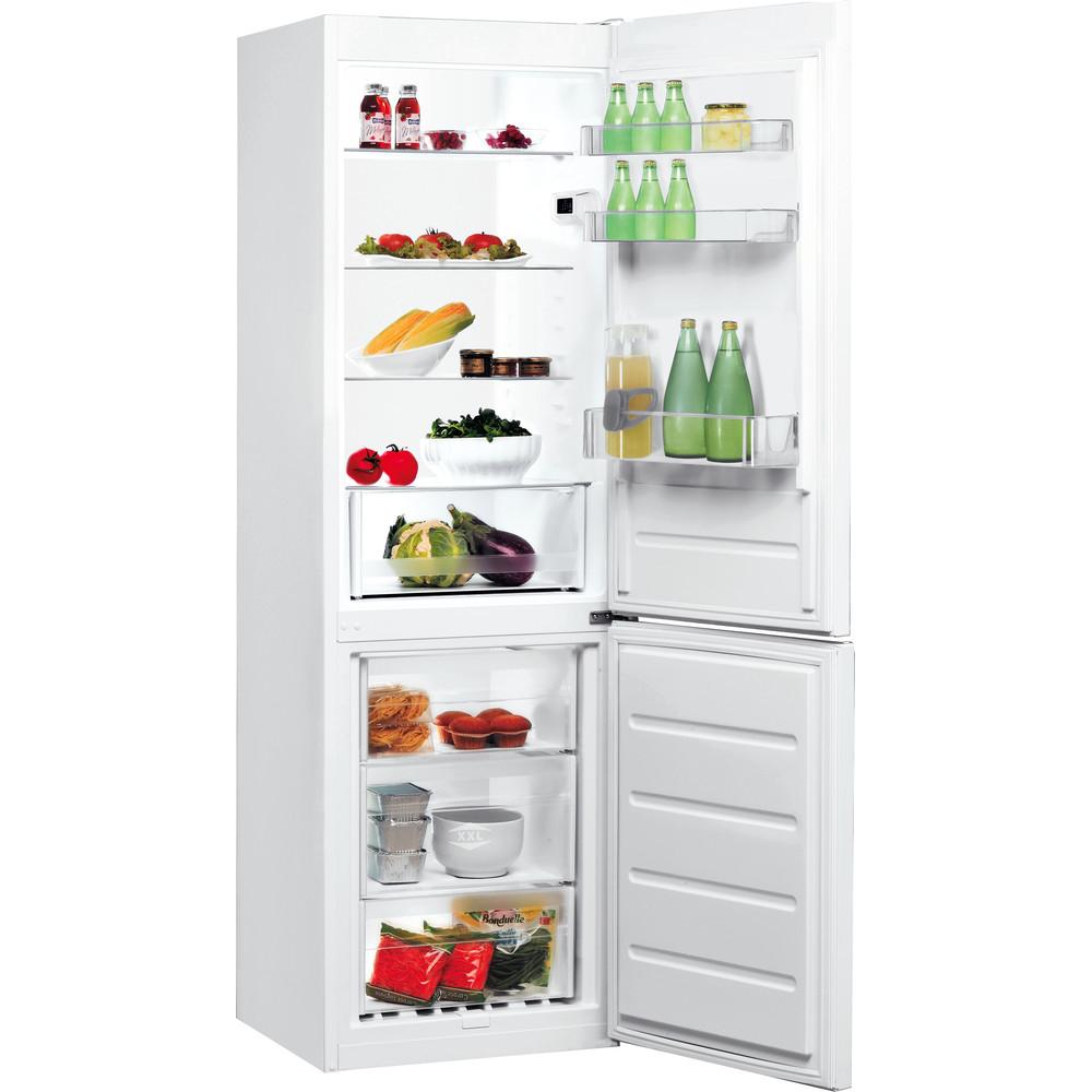 Indesit Kombinētais ledusskapis/saldētava Brīvi stāvošs LI8 S1E W Global white 2 doors Perspective open