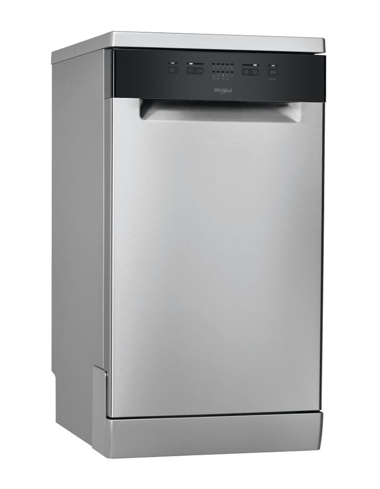 Whirlpool Dishwasher Free-standing WSFE 2B19 X UK N Free-standing F Perspective